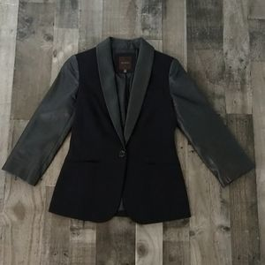 The Limited Faux Leather Blazer Size XS